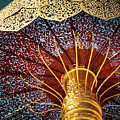 Buddhas Path To Enlightenment, Golden Umbrella by Heiko Koehrer-Wagner