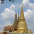 Buddhist Chedi - Bangkok by Mike Holloway