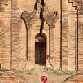 Buddhist Novice Are Walking In Temple by Anek Suwannaphoom