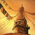 Buddhist Stupa- Nepal by Ryan Fox