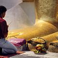 Buddhist Thai People Praying by Heiko Koehrer-Wagner