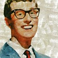 Buddy Holly By Mary Bassett by Mary Bassett