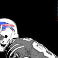 Buffalo Bills Football Team And Original Typography by Drawspots Illustrations