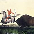 Buffalo Hunt, 1832 by Granger