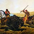 Buffalo Hunt, 1862 by Granger