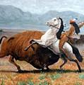 Buffalo Hunt by Tom Roderick