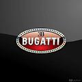 Bugatti - 3 D Badge On Black by Serge Averbukh