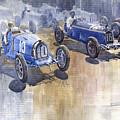Bugatti 51 Alfa Romeo 8c 1933 Monaco Gp by Yuriy Shevchuk