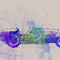 Bugatti Type 35 R Watercolor 2 by Naxart Studio