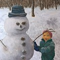 Building A Snowman  by J O Huppler