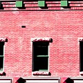 Building In Red And Green by Doug Morris