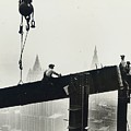 Building The Empire State Building by LW Hine