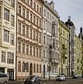 Buildings Along The Vltava by Heather Applegate