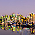 Buildings Lit Up At Dusk, Vancouver by Panoramic Images