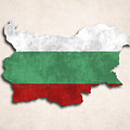 Bulgaria Map Art With Flag Design by World Art Prints And Designs