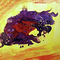 Bull Abstract by Asha Sudhaker Shenoy
