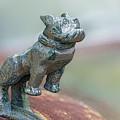Bull Dog Hood Ornament by Linda D Lester