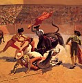 Bull Fight In Mexico 1889 by Remington Frederic