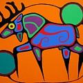 Bull Moose by Jim Oskineegish