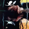 Bull Moose by Robert Wesley Amick