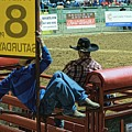 Bull Riders At The Rodeo. Fort Worth 2013 by Chris Honeyman