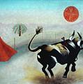 Bull With Sun by Sally Appleby