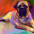 Bullmastiff Dog Painting by Svetlana Novikova