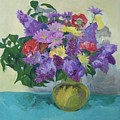 Bunch Of Spring Flowers by Aletha Kuschan