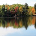 Bunganut Lake Maine Foliage 11 2016 by Lynne Miller