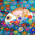 Bunny And Flowers by Nick Gustafson