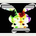 Bunny In Abstract by Debra Lynch