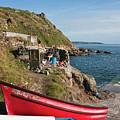 Bunty In Priest's Cove Cape Cornwall by Terri Waters