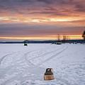 Buoy And Ice Shack by Darylann Leonard Photography