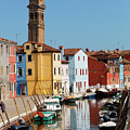 Burano An Island Of Multi Colored Homes On Canals North Of Venice Italy by Bruce Beck
