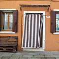 Burano Italy Brown House by John McGraw