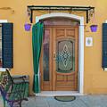 Burano Italy Yellow House by John McGraw