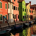 Burano Reflections by Dennis Hedberg