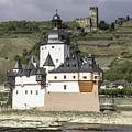 Burg Pfalzgrafenstein And Burg Gutenfals Squared by Teresa Mucha