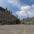 Burg Square In Bruges Belgium by Louise Heusinkveld