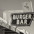 Burger Bar Bw by Jerry Fornarotto