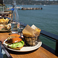 Burgers With A View At Barrel House Restaurants On Bridgeway Sausalito California Dsc6070 by Wingsdomain Art and Photography