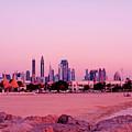 Burj Khalifa Previously Burj Dubai At Sunset by Chris Smith