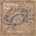 Burlap Blue Crab by Debbie DeWitt