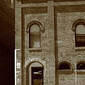 Burlington North Carolina - Arches And Alley Sepia by Frank Romeo
