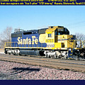 Burlington Northern Santa Fe Bnsf by Ronald Estes