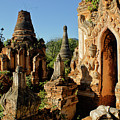 Burmese Pagodas In Ruins by Michele Burgess