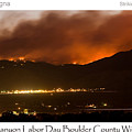 Burning Foothills Above Boulder Fourmile Wildfire Panorama Poster by James BO  Insogna