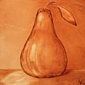 Burnt Sienna Pear by Jodi Monahan