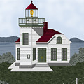 Burrows Island Lighthouse by Anne Norskog