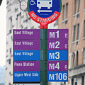 Bus Stop Sign In New York City by Nishanth Gopinathan